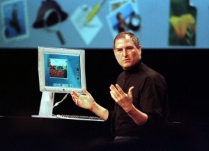 Steve Jobs, with his demo.